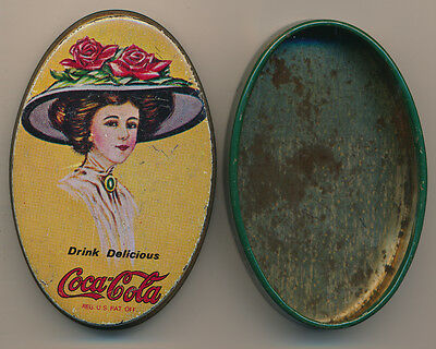 Vintage Original Coca-Cola Small Tin Box