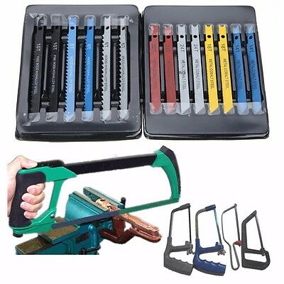 14Pc Set Assorted U-shank Jigsaw Blades Metal Plastic Cut Cutting Wood Tool