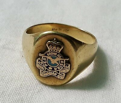 Rare Canadian Air Police 10Kt Gold Ring