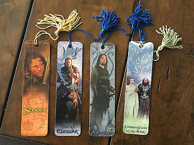 Lord of the Rings Aragorn, Strider, King Elessar Bookmark Set