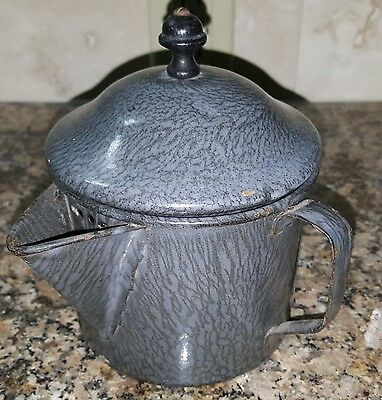 Grey Graniteware Tea Steeper