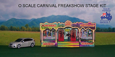 O Scale Sideshow Low Relief Carnival Sideshow Stage - OSST