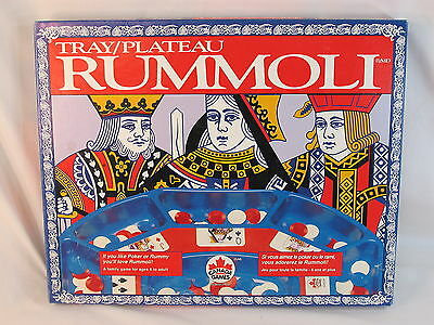 Rummoli Game Tray & Chips 1995 Canada Games Bilingual Near Mint Condition