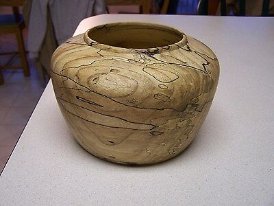 Spalted White Oak Wooden Bowl  - Hand turned