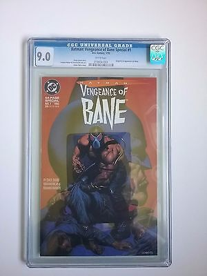 Batman: Vengeance of Bane Special #1 CGC 9.0 White Pages Origin 1st Appearance0