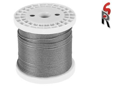 Stainless Steel Marine Wire G316 Balustrade Rope Cable 7 x 7 constr 3.2mm x 200m