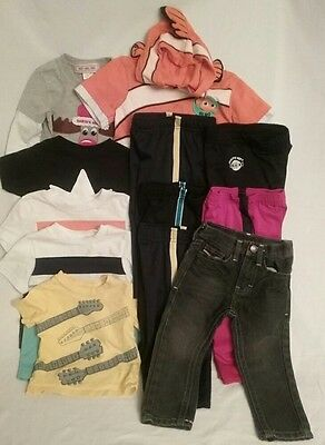 Lot of 18 BOYS CLOTHES Name Brands Pants/Jeans/Shirts Spring Summer SIZE 24M 2T