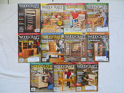 (11)  WOODCRAFT MAGAZINES from 2005-2012