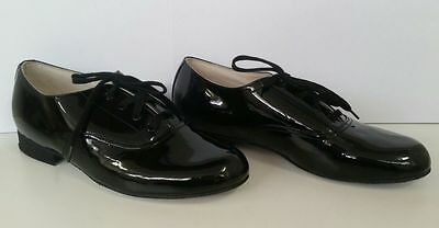 HALF PRICE! Salvios Boys Ballroom Shoes Black Size 3 BRAND NEW!