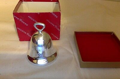 Silver Plate Bell. Reed & Barton. Xmas 1992. Limited Edition. MIMB fully sealed.