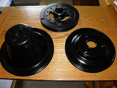 58 59 60 Ford Thunderbird 352 Harmonic Balancer Dampener Water Pump Crank Pulley