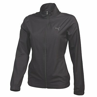 Puma Womens Full Zip Wind Jacket - Black