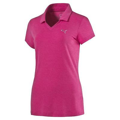 Puma Womens Heather Golf Polo - Beetroot
