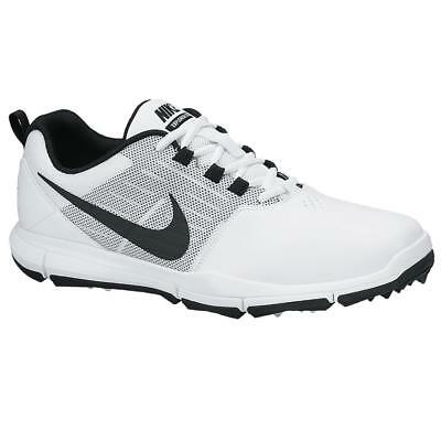 New New Nike Explorer Spikeless Golf Shoes - White/Black - Men's Golf Shoes