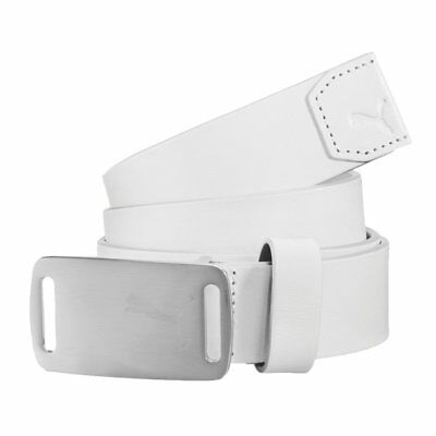 New Puma Lux Fitted Golf Belt - White