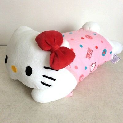614517613 New Hello Kitty Body Pillow Hugging Doll Cushion 42x22cm Sanrio From JAPAN