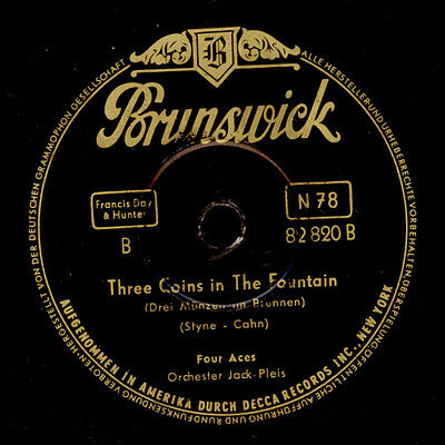 FOUR ACES Three Coins in the Fountain / KITTY KALLEN  **Juke-Box-Hits**   S2934