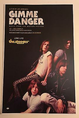 "THE STOOGES PROMO 11""x17"" Poster ONLY to promote GIMME DANGER double sided!! NEW"
