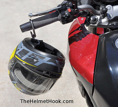 Helmet Hook For Motorcycle Handlebars