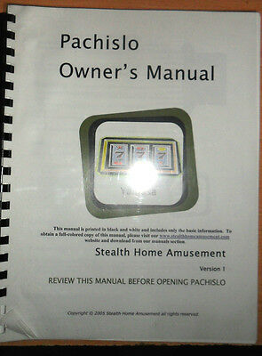 """20+ Page FULL COLOR 8.5""""x11"""" Bound Pachislo Slot Machine Manual"""