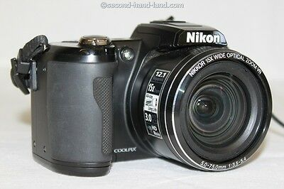 Nikon Coolpix L110, 12,1 MP Digitalkamera, 15x Zoom, schwarz