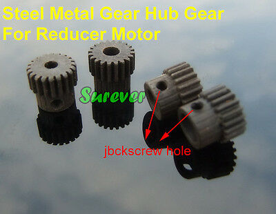 Steel Metal Gear Hub Gear For Reducer Motor 20T 0.5 Modulus 3/4/5/6mm Aperture
