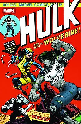 Hulk 1 Ed McGuinness color cover swipe limited to 3000 copies RARE HTF wolverine