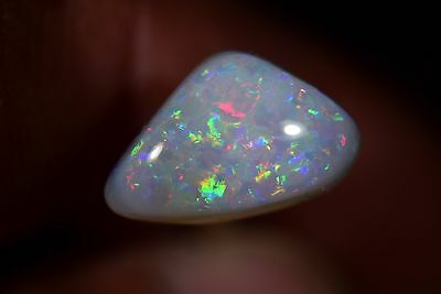SOLID FIRE MULTICOLOR OPAL Australian Coober Pedy Natural Genuine 3.5 Cts
