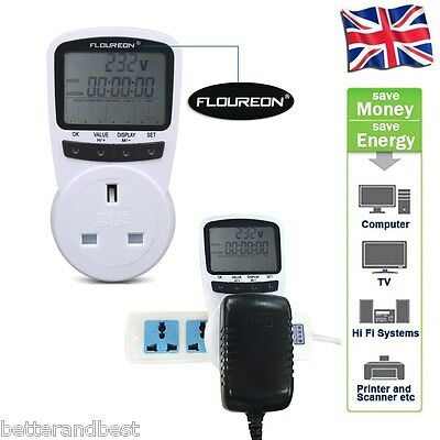 Programmable Power Meter Switch Energy Monitor Volt Kwh Watt Electricity Plug UK