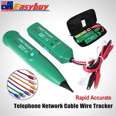 Telephone Lan Network RJ Tester Tracker Cable Wire Finder Tracer Toner Test 2017