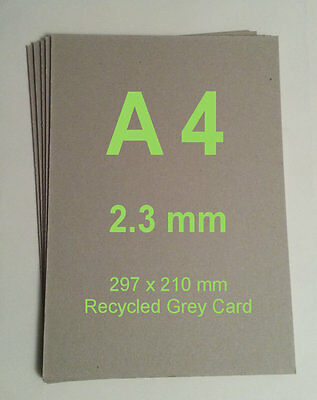 Recycled Grey Card A4 297mm x 210mm x 2.3mm Model Railway Building Kit Accessory