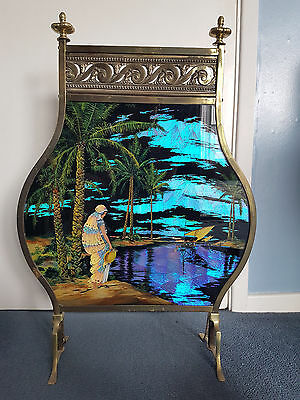 Butterfly wing picture fire screen.