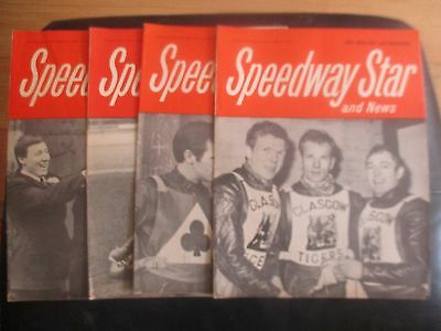 1969 Collection (3) Of 4 Speedway Star And News Magazines