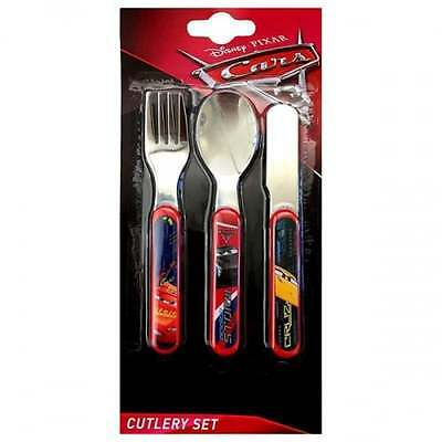 Cars 3 Piece Cutlery Set OFFICIAL Movie Merchandise Kids Kitchen - NEW GIFTS