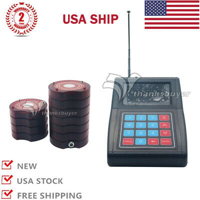 Restaurant Wireless Paging Queuing System Coaster Pagers Guest Waiter Calling US