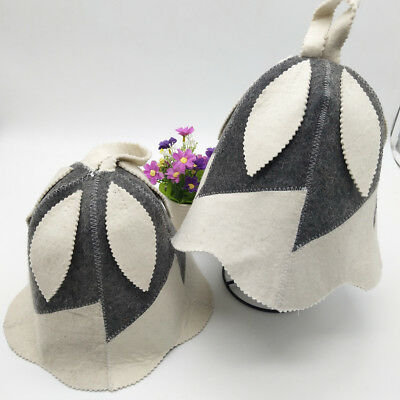 Wool Hat for Sauna Banya Bath House Head Protection Embroidered Unisex #12
