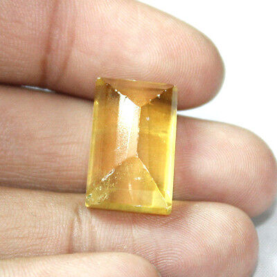 43  Cts 100% Natural Faceted Emerald Cut Shape  Yellow Beryl Loose Gemstone ebay