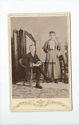 Boy And Young Girl Portrait By Photographer W.w. Black, Gananoque, Ontario