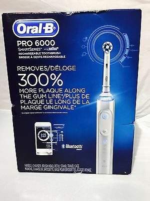 Oral-B Pro 6000 SmartSeries Power Rechargeable Electric Toothbrush with Bluetoot