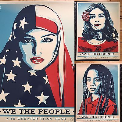 Shepard Fairey We The People Set 18x24 limited 450 Obey Giant