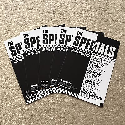 5 x 2017 The Specials JAPAN concert tour flyer / mini promo Japanese poster NEW