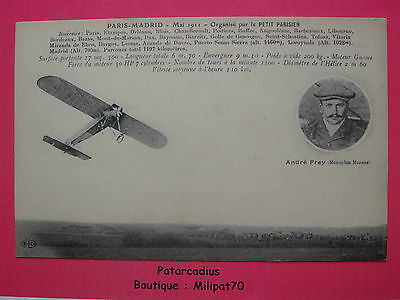 Aviation . Paris Madrid Mai 1911 . André FREY ( Monoplan Morane )