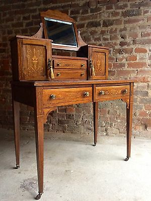 Superb Antique Writing Desk Rosewood Bonheur Du Jour Edwardian Circa 1902