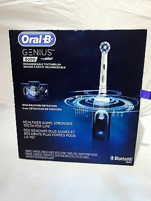 Oral-B Genius 8000 Electric Rechargeable Toothbrush Powered by Braun (Black)