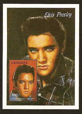 Tanzania 812 souvenir sheet - Elvis Presley - Mint never hinged - issued 1992