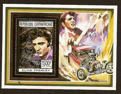 Central African Republic 1001B - Elvis Presley stamp souvenir sheet - Africa