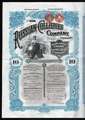 1902 England/Russland: Russian Collieries Company