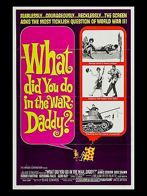 "What did you do in the War Daddy 16"" x 12"" Reproduction Movie Poster Photograph"