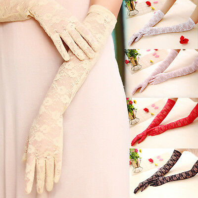 Wedding Bridal Lace  Gloves Formal Prom party OPERA Evening Fancy Costume Gloves