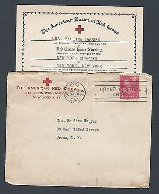 mjstampshobby 1941 US Red Cross Cover with Diploma Nice RARE (Lot2280)